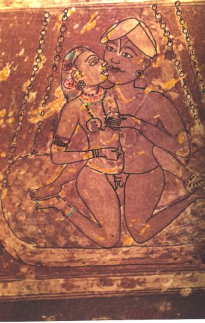 Dasaya having fun on a sex swing