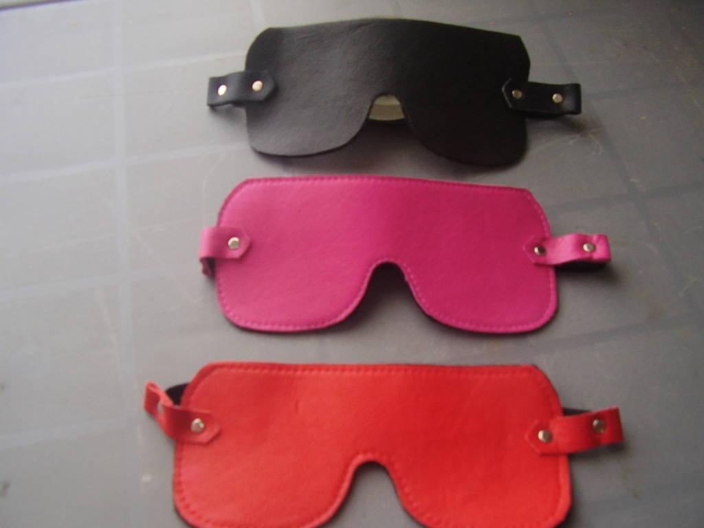 leather and felt blindfolds